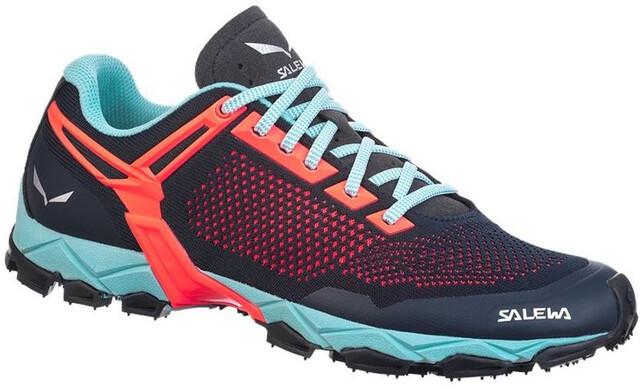 SALEWA Lite Train K Shoes Women premium navyfluo coral